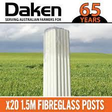 20 X 1 5m Fibreglass Fiberglass Temporary Posts Strip Graze Electric Fencing Ebay