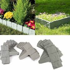 Garden Fence Picket Border Brick Wall Edging Gardening Lawn Fencing Garden Decor Ebay
