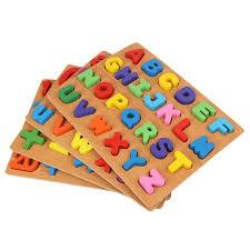 Trẻ Em Bảng Chữ Cái ABC Số Bằng Gỗ Học Đồ Chơi Giáo Dục Trẻ Em ...