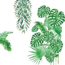 Amazon Com Amaonm Ceative Removable Green Plant Wall Stickers Diy Green Leaves Wall Decals Hanging Tree Vine Wall Decor For Living Room Kids Girls Babys Bedroom Office Nursery Home Walls Decoration B Baby