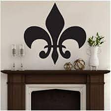 Amazon Com Fleur De Lis Wall Art Decal Flowers And Shapes Abstract Vinyl Wall Sticker Removable Vinyl Wall Poster Home Decoration 42 42cm Kitchen Dining
