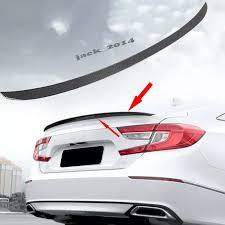 Carbon Fiber Look Rear Spoiler Cover Decal Trim For Honda Accord Sedan 2018 2019 Spoilers Wings Aliexpress