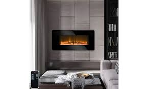 electric wall mount heater fireplace