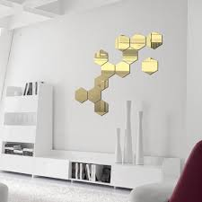 Mnycxen 7pcs 3d Mirror Hexagon Vinyl Removable Wall Sticker Decal Home Decor Art Diy Walmart Com Walmart Com