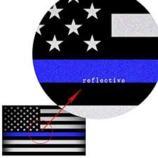 Reflective Us Flag Decal Packs With Thin Blue Line For Cars Trucks 5 X 3 Inch American Usa Flag Decal Sticker Honoring Police Law Enforcement 3m Vinyl Window Bumper Tape 3 Pack