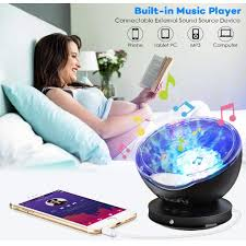 Eecoo Ocean Wave Night Light Sleep Soothing Color Changing Night Light Projector With Built In Mini Music Player For Baby Kids Mommy Bedroom Living Room Party Dating Walmart Com Walmart Com