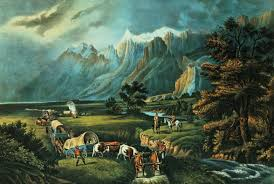 Currier Ives The Rocky Mountains Emigrants Crossing The Plains 1