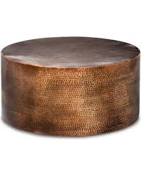 granby hammered barrel coffee table