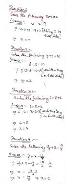 ncert solution linear equations in one