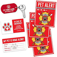 Amazon Com Dog Inside Sticker 4 Pack 4x5 Inches Dog Alert Safety Window Sign Kitchen Dining