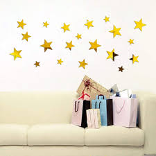 Home Garden 20pcs Removable Star Mirrors Wall Stickers Decal Art Vinyl Kids Room Home Decor Children S Bedroom Boy Decor Decals Stickers Vinyl Art