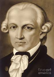 Immanuel Kant 1724-1804, German philosopher and writer Painting by German  School