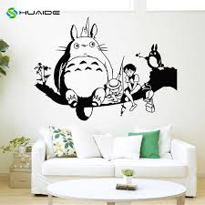 Huaide Japanese Cartoon Totoro Wall Decal My Neighbor Totoro Wall Stickers For Kids Rooms Nursery Bedroom Wall Art Mural A453 Totoro Wall Sticker Sticker For Kids Roomwall Stickers For Kids Aliexpress