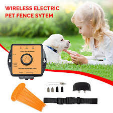 Wireless Pet Fence System 27000 Sqft Underground Dog Containment System With Water Resistant Electric Dog Collar And Transmitter Walmart Com Walmart Com