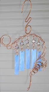 copper wire harp style wind chimes