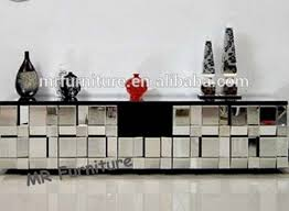 muti faceted glass mirror tv stand