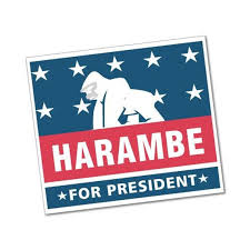 Harambe For President Sticker Love Peace Beliefs Equality Etsy
