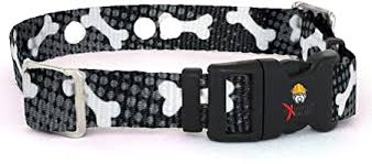Amazon Com Extreme Dog Fence Replacement Receiver Collar Straps For All Brands Electric Dog Fences Black With White Bones Invisible Fence More Up To 18 Neck Pet Supplies