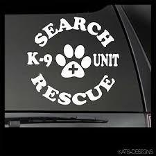 Search Rescue K9 Vinyl Decal Car Truck Window Sticker Search And Rescue K9 39 Ebay