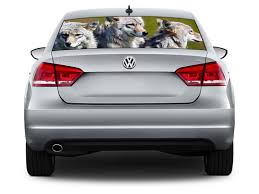 Wolves Car Rear Window See Through Net Decal Decalz Co