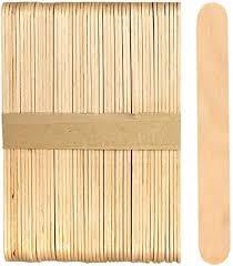 Amazon Com 100 Sticks Jumbo Wood Craft Popsicle Sticks 6 Inch Natural Wood Arts Crafts Sewing