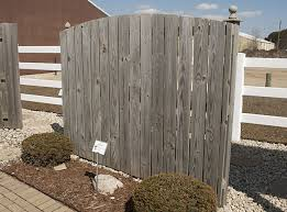 Semi Privacy Fence In Wood Rails By 1 Fencing Contractor In Mi