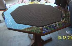 how to do bottle cap tables and bartops