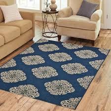 supreme elegant navy blue area rug