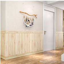 3d Imitation Wood Wall Stickers Living Room Upholstered Walled Wood Wainscoting Ceiling Self Adhesive Wallpaper Wall Word Stickers Wallpaper Decal From Cccofficialstore 1 36 Dhgate Com