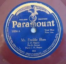 "Priscilla Stewart: Mr. Freddie Blues. JH Shayne Piano. Paramount 12224. 10""  78 | #253579171"