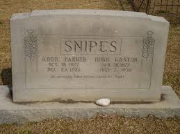 Addie Parker Snipes (1877-1926) - Find A Grave Memorial