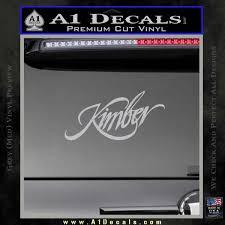 Kimber Firearms Decal Sticker A1 Decals