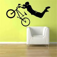 Giant Bmx Bike Bicycle Sport Wall Art Decor Sticker Vinyl Decal Boy Room Decor Wallpapers For Bedroom Livingroom 40 Colors Decor Wallpaper Wallpapers Forvinyl Decal Aliexpress