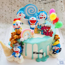 Doraemon Cat Cartoon Cake Topper Toys For Kids Baby Children Return Gifts Party Supplies 1st Birthday Decorations Cupcake Topper Aliexpress
