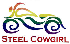 5 Rainbow Motorcycle Window Decal Sticker By Steel Cowgirl