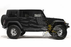 Usa Flag Graphics Decal For Jeep Jk Wrangler Stickers 4 Door 2007 2018