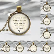 buddhist inspirational quote necklace motivational wisdom pendant
