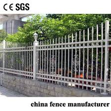 China Residential House Fashion Design Decorative Protective Privacy Picket Wrought Iron Galvanized Steel Fence China Fencing And Galvanized Steel Fence Price