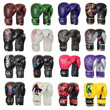 xc cow hide leather boxing gloves fight