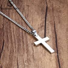 silver cross pendant necklace