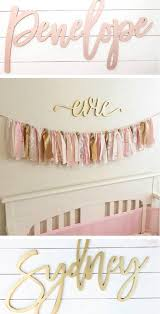 Custom Wooden Name Signs Baby Nursery Decor Beautiful Pink And Gold Ropa De Cama De Bebe Decoracion Cuarto Bebe Organizacion De Accesorios Para El Cabello