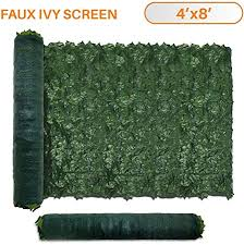 Amazon Com Tang Sunshades Depot 4 Ft X 8 Ft Artificial Faux Ivy Privacy Fence Screen Leaf Vine Decoration Panel With 130 Gsm Mesh Back Garden Outdoor