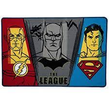 Round Carpet Batman Superman Printed Soft Anti Slip Rugs Superhero Mat Kids Room