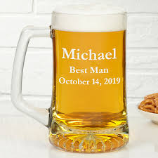 glass beer mug in wedding party designs
