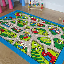 Amazon Com Pro Rugs Children S Play Village Mat Town City Roads Rug 8 Feet X 10 Feet Furniture Decor