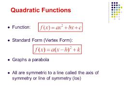 vertex formula quadratic equation
