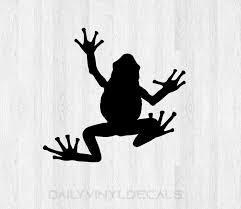 Frog Decal Frog Sticker Choose Size And Color Frog Silhouette Decal Silhouette Sticker Car Laptop Cell Phone Computer Decal Etc