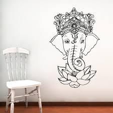 Elephant Wall Decal Vinyl Stickers Yoga Ganesh Decals Tribal Etsy Elephant Wall Art Elephant Wall Decals Boho Wall Art
