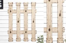 Picket Fence Wall Decor With Hooks European Cottage Decor Steals