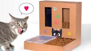 un distributeur de nourriture pour chat